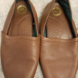 L.B. Evan Leather Men Slippers 10.5 EEE